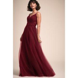 BHLDN Camden Burgundy Bridesmaids Dress